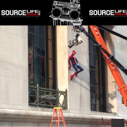 So they are filming Spider-Man right next my office. SourceLifeRadio.com