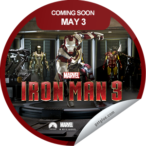 I just unlocked the Marvel's Iron Man 3 Coming Soon sticker on GetGlue                      23074 others have also unlocked the Marvel's Iron Man 3 Coming Soon sticker on GetGlue.com                  Tony Stark faces his toughest challenge yet. Will he be able to withstand the Mandarin? Find out. Iron Man 3 opens in theaters on 5/3.  Share this one proudly. It's from our friends at Disney.