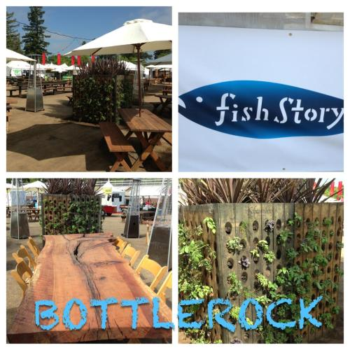 "BOTTLEROCK NAPA VALLEY MUSIC FESTIVAL 2013 Manja Review: Fish Story Seafood Restaurant · New American Restaurant 790 Main Street, Napa, CA. (707) 251-5600 Today 11:30 am - 2:00 pm, 5:30 pm - 9:00 pm http://www.fishstorynapa.com/ LiveLoveManja attended Napa's Music Food and Wine Festival BOTTLE ROCK May 10th and May 11th. One of the foodie booths featured in the ""Whole Food's Garden"" side of the food tents , ""Fish Story"", drew us in because they featured Ceviche (a Manja favorite). We were absolutely delighted to find a booth that could accommodate a severe tree nut allergy (a rarity in napa where most dishes seem to contain walnuts or almonds of some sort). Great food, wine, and music. Clear Beautiful Summer Weather. Ceviche and Guacamole. We could not wish for more. The fish is cut in generous chunks and is a mild fish. It's seasoned well (definitely can pick up the lime notes) which is very refreshing after a full day in the sun. We recommend getting a side of chips and guacamole and combining that with the Ceviche (if you're sharing with another). The portions are generous and you are bound to be satisfied. The guacamole is very rich (more creamy than spicy) so if you are sensitive to spicy foods you will like this blend. The chips have a light lime taste to them and are warm and crispy. The perfect late lunch or early dinner appetizer.  We enjoyed the picnic like seating near the heat lamps as well. A garden like ambiance in the middle of a desert hippie Napa Festival. Perfection. Manja Tip: When living with a severe food allergy to tree nuts (all nuts besides peanuts which are a legume) seafood and ceviche are often safe choices, or dishes that the restaurant can usually serve you (meet tree nut allergy accommodations). Very simple and minimal ingredients are used in these dishes and are ""clean eating"" choices, should you be open to seafood. Please note the attached image is not our own, and the credited link is provided. Fish Story, we truly appreciate you being sensitive to food accommodations. You ROCK! Manja!"