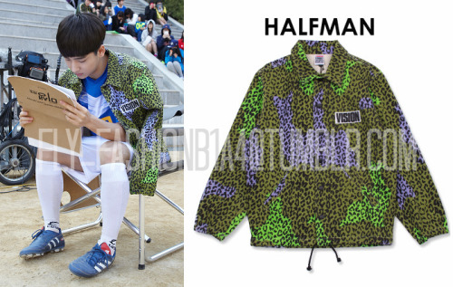"[FLY-FASHION FIND] We found Baro here on set in the middle of filming ""Miseng"" wearing this jacket from Halfman x Vision! It's currently sold out, but you can still check it out here. It was sold for 16,590 円 Image Credit: daum.net, faketokyo.com"
