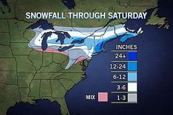Blizzard to Hit Northeast  New York City and the northern mid-Atlantic are on the edge of a major storm that will hit New England as a blizzard Friday and Friday night.