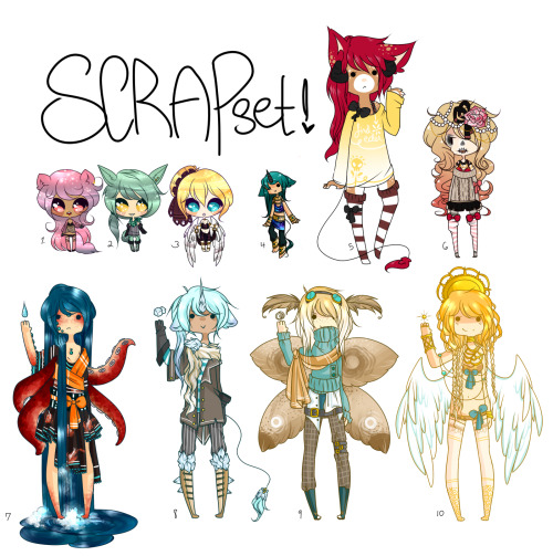 !! Scrapset / Auction !! by =LinoleumItalics