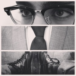 Suited and Booted #fashion #vintage #style #suit #glasses #raybans #rayban #drmartens #docmartens #docs #dms #boots #model #musician #music #musicians #twins #brothers #british #britain #london #malta #maltese