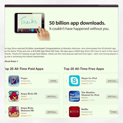 #50billion #app #downloads #iphone #ipad #ipod #apple