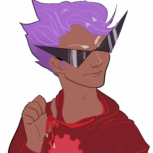 zebeck:  dirk with pastel purple hair commission for lynn!!!!!! just a few more to finish yesss