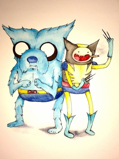 wolverineholic:  Adventure Time X-men Wolverine Beast by Justin