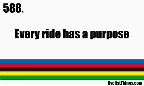 even if the purpose is to just ride