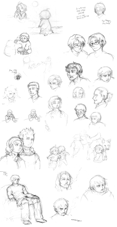 Sketchdump Sketches ranging from October through December, my last frantic months of school, but if I'd had any damn time at all before now… ;A;