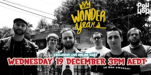 fuckyeahsoundwave:  THE WONDER YEARS ARE CHATTING LIVE AND EXCLUSIVE IN POWWOW IN FIVE MINUTES!Click the picture for a direct link!