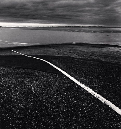 White Line, Berck-Plage, France, 2000Michael Kenna