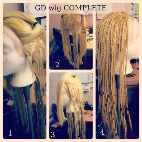 After 4 weeks, 82 braids left. G-dragon wig is done! #gd #gdragon #cosplay #wip #megacon2013 #kpop #bigbang #빅뱅 #지드래곤#oneofakind #PicFrame