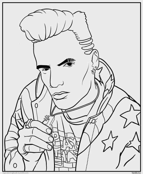 Click here to download the Vanilla Ice coloring page. Print it out. Color it. Listen to this while you do so. Then, when you're done, go play Double Dragon on regular Nintendo. Now you're me when I was nine-years-old. <3   Rap Coloring Book on Twitter