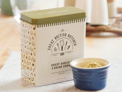 #packaging, #package_design, #design, #graphic_design, #lovelypackagecom, #seasoning, #logo, #logos, #butcher, #tin, #cooking