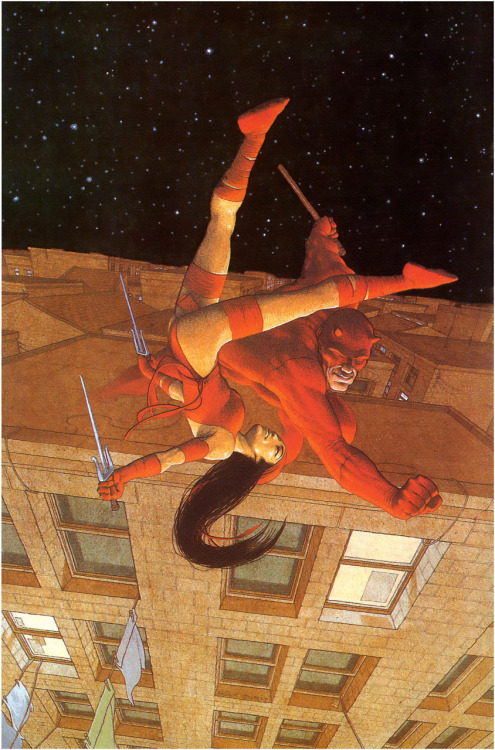 Daredevil & Elektra Art by Frank Quitely