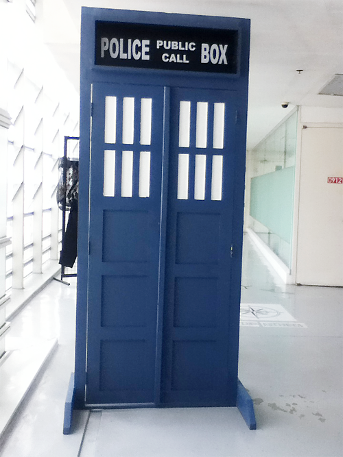 imsirius:  SO THERE'S A TARDIS IN MY SCHOOL/COLLEGE AND I PANICKED AND DIDN'T HAVE ANYTHING TO WRITE ON I ONLY HAD A PEN ENTERED THE REST ROOM AND FOUND A PIECE OF TAPE HAHAHAHA SO   I mean, I had to. to the sophomores or freshmen who probably put this up omg hi do you have a tumblr let me show you love