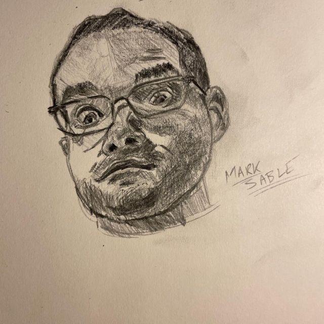 My third portrait from my #faceswithfrance @sktchy class.  Swipe for reference. #drawing #illustration #art #artistsofinstagram #artistsoninstagram #artwork #pencil #graphite #portrait https://www.instagram.com/p/CNvk2uuBp7y/?igshid=15pgrm7mnrx6z #faceswithfrance#drawing#illustration#art#artistsofinstagram#artistsoninstagram#artwork#pencil#graphite#portrait