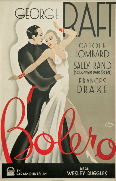 #george_raft, #carole_lombard, #moje_aslund, #wesley_ruggles, #swedish_movie_posters, #john_mauritz_moje_aslund