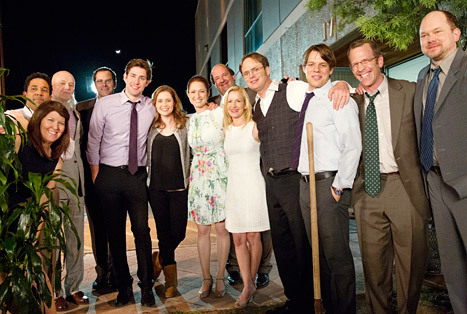 "The Office Series Finale: 5 Key Moments From Dunder Mifflin's Last Goodbye We'll always have Scranton. After eight years, nine seasons, a lot of laughs, and countless ""That's what she said"" jokes, The Office closed its doors for good on Thursday, May 16, with a moving series finale that saw the beloved Dunder Mifflin staff get the happy endings they all deserved. (Spoilers ahead!) The 75-minute episode was jam-packed with one-liners, tributes, and surprises — too many to list here — so to recap, here's a look at five key moments from the NBC comedy's last outing. And to Steve Carell, John Krasinski, Rainn Wilson, Jenna Fischer, Ed Helms, and the rest of the Dunder Mifflinites: Thanks for the memories."