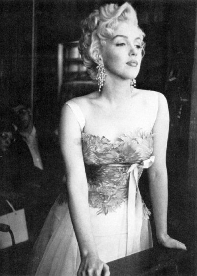 thebeautyofmarilyn:  Marilyn on the set of There's No Business Like Show Business, 1954.