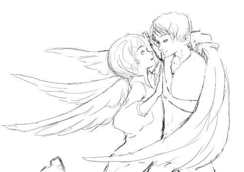 Hands? Just a rough sketch (may improve it later). #eremin week#hands#sketches #very rough sketch