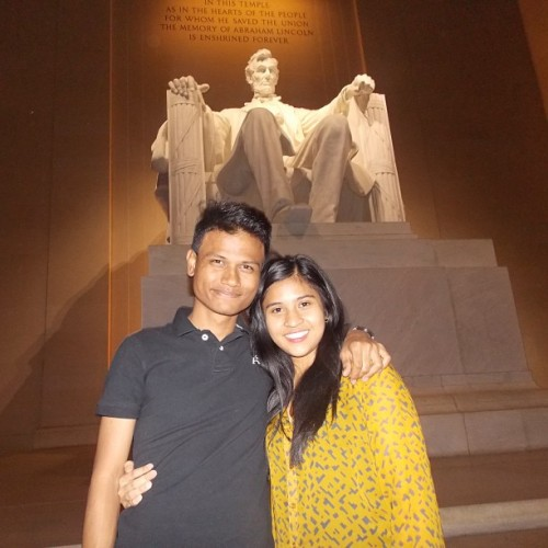May Abe be with you.  (at Abraham Lincoln Memorial)