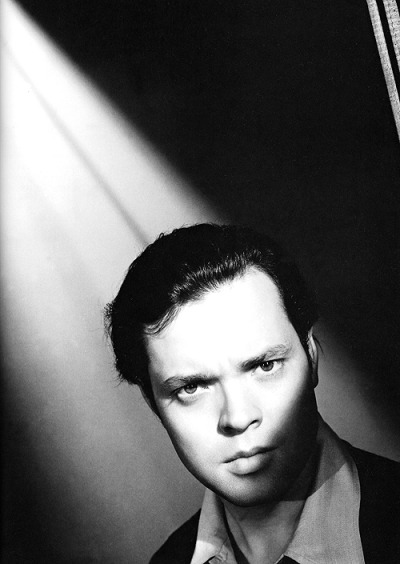 Orson Welles on the set of Citizen Kane (1941). Photo by Ernest Bachrach