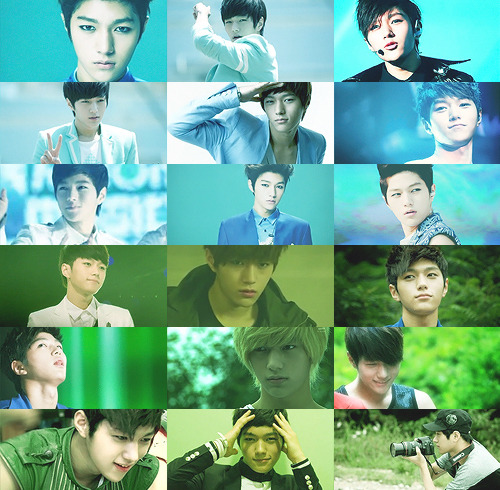 Color meme: Kim Myung Soo + Rainbow ; Asked by bbongtaeng