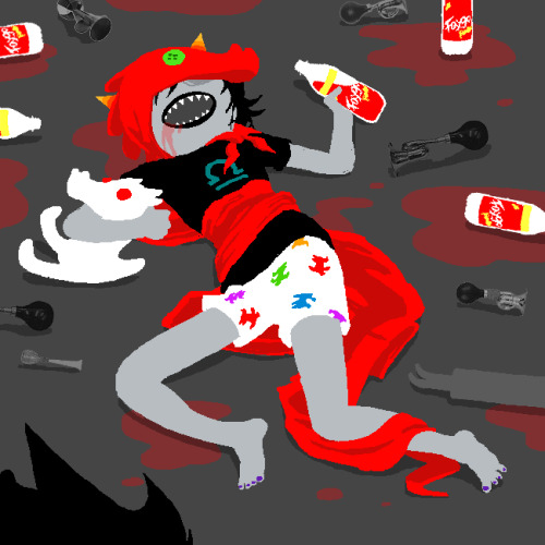 Teehee Terezi you so crazy.  Also gamzee nail polish :U