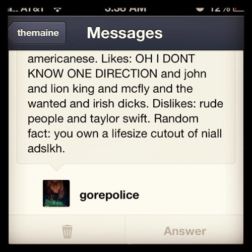 Everything about this Is true @gorepolice I love you #revisitingmyinbox #onedirection #niallhoran #personal #lols