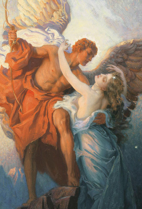colourthysoul:  Herbert James Draper - Day and the Dawnstar (1906)