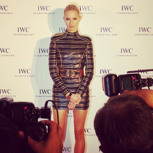 Karolina kurkova red carpet party  @iwc #iwccannes2013 #cannes2013 #backstage #photocall