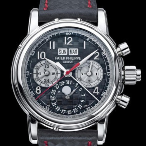 Only Watch 2013: Patek Philippe 5004T Split Seconds Perpetual Calendar. Unique piece in Titanium for the Charity Auction #watch #patekphilippe #patek #watchonista #onlywatch #watchgeek #watchporn #instamood #watchoftheday