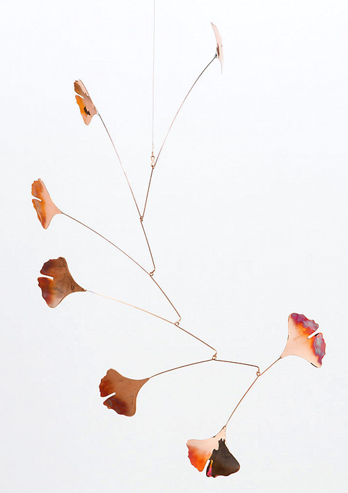 (via Copper Gingko Mobile | Design*Sponge)
