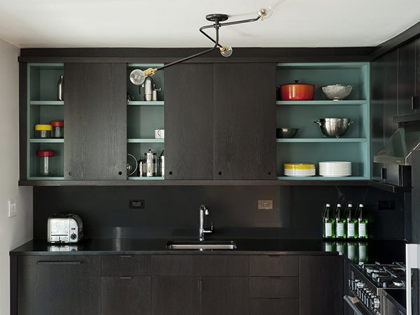 "colour inside cabinets (via PLASTOLUX ""keep it modern"" » Interiors by Workstead)"