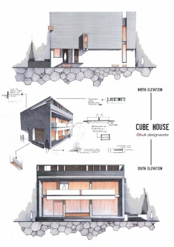 archimess:  fabriciomora:  Anique Azhar→Elevations  Cube House