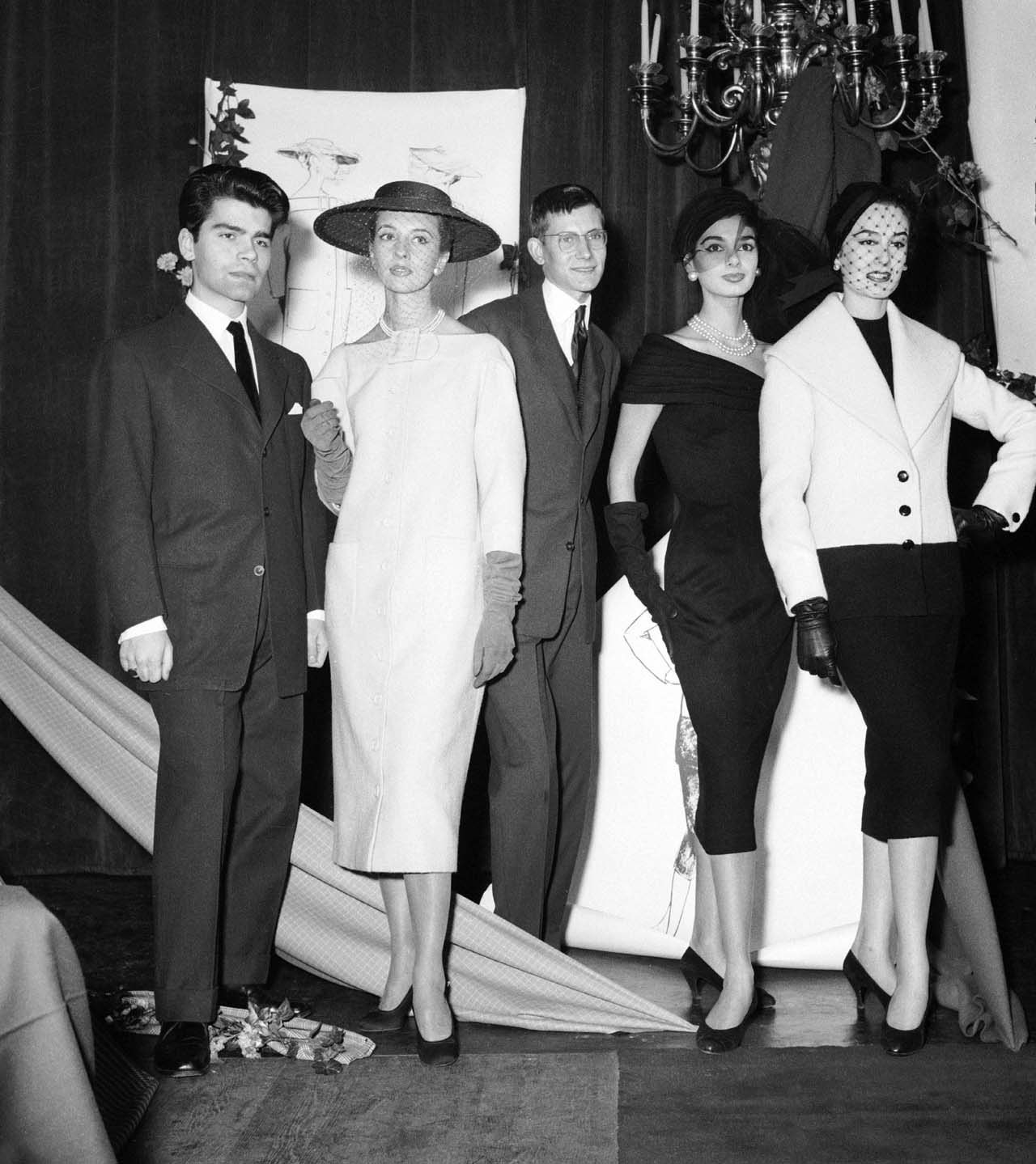 The Woolmark Prize Winners, 1954. Karl Lagerfeld and Yves Saint Laurent.