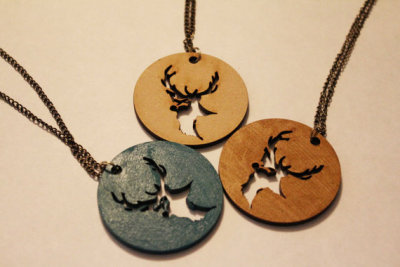 Stag necklace on ETSY