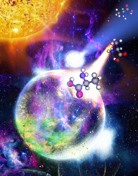 Star- and Planet-Forming Regions May Hold Key to Life's Chirality Life on Earth is made of left-handed amino acids (L-amino acids). The question of why organisms on Earth consist of L-amino acids instead of D-amino acids or consist of D-sugar instead of L-sugar is still an unresolved riddle. Recent research into star and planet formation throws new light on this question.  A research team with Jungmi Kwon (GUAS/NAOJ) has performed deep imaging linear and circular polarimetry of the 'Cat's Paw Nebula' (NGC 6334), located in the constellation Scorpius, and detected high degrees of circular polarization (CP) — as much as 22% in NGC 6334. The detected CP degree is the highest ever observed. Continue Reading