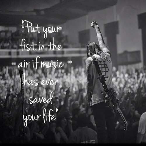 rejective:  So many hands went up when Vic said this. I proudly raised mine because it's so true. I love concerts because we all relate so much just by listening to the same music. Never cried so hard in my life