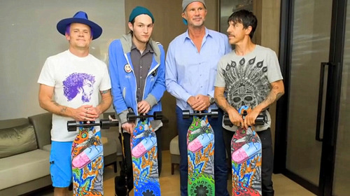 Red Hot Chili Peppers skate boards - By the illustration mercenary Caspian Delooze By http://lauklinghoffer.tumblr.com/