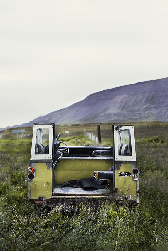 Abandoned Land Rover; Northern Iceland