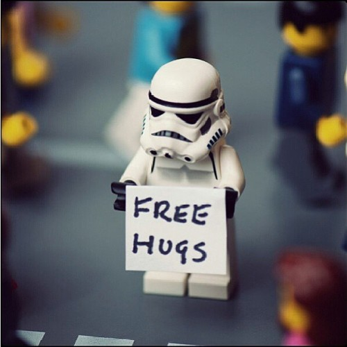 I love Star Wars and I love hugs.  Maybe I should make a Star Wars hug video? #ideas #badidess #lol