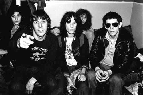 John Cale, Lou Reed and Patti Smith all together.