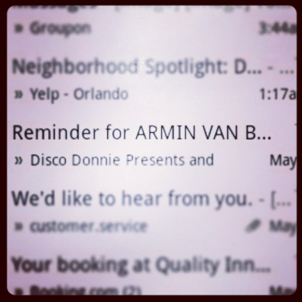 The best reminder I've ever gotten! @troyalan92 @preyash16 @arminvanbuurenofficial #Tampa #arminvanbuuren #race #Plur #roadtrip #thanksdonniedisco