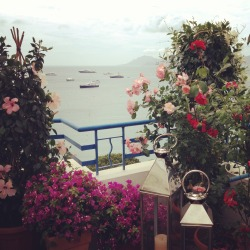 chopardredcarpet:  The view from the Chopard Lounge in Cannes as seen by Jamie Beck.