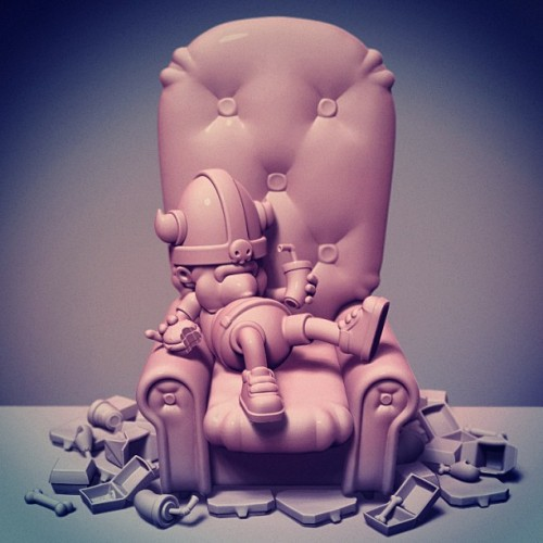 "Foozle the viking in ""my home is my castle"" #zbrush #sculpting"