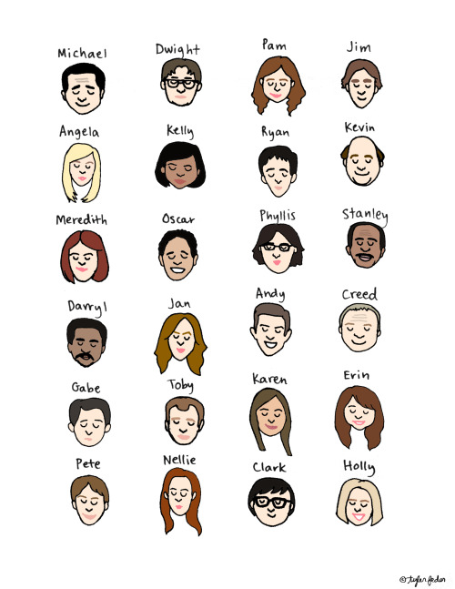 Cutie Pies of Dunder Mifflin (by Tyler Feder) Buy a signed print here!