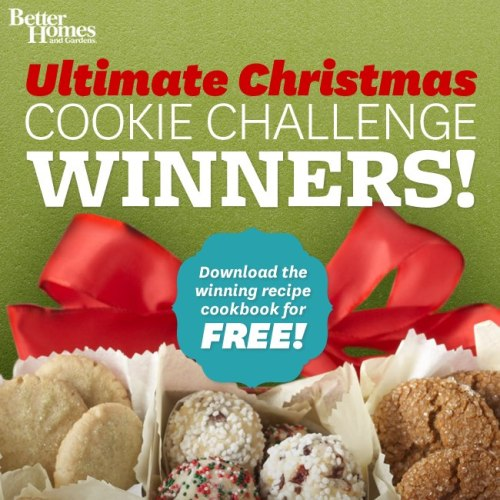 Your votes have been tallied! Chocolaty Melting Snowmen, Peanut Butter Blossoms, Red Velvet Whoopie Pies and Chocolate Chip-Cookie Dough Truffles are our 2012 winners. Now let's get baking!Download your free 2012 Ultimate Christmas Cookie Challenge cookbook here!