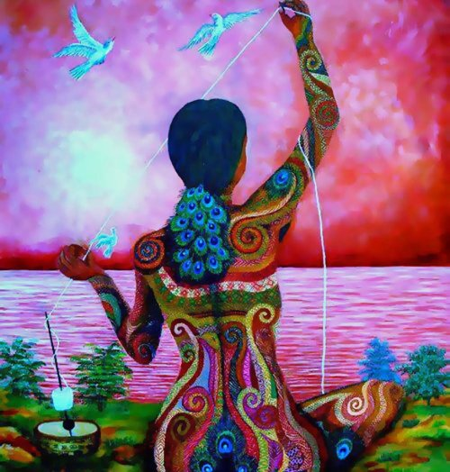 touchn2btouched:   arTist; Paula Nicho Cumez    We are but one thread within the Web of Life. Whatever We do to the Web, we do to Ourselves. All things are Bound Together.  All things Connect.✣ Chief Seattle