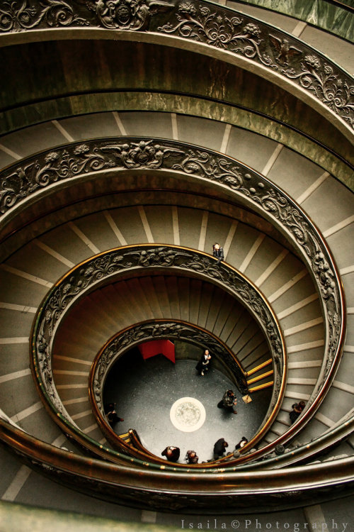 earth-song:   Vatican Stairsby ~IsailaPhotography